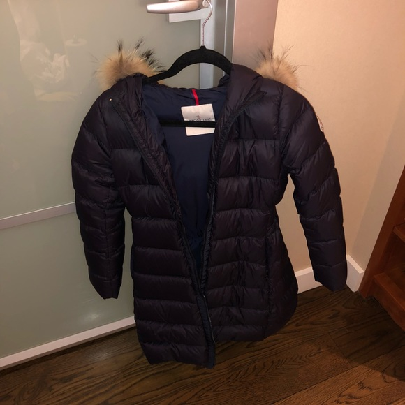 7b3a242b0 Moncler Jackets & Coats | Authentic Girls Down Jacket With Fur ...